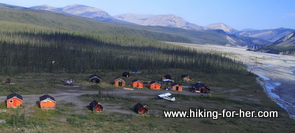 South Nahanni base camp, Northwest Territories