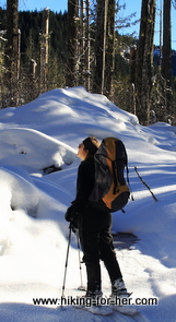 woman on snowshoes