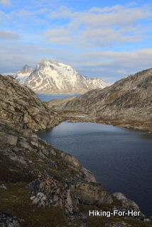 Big mountain views and bay in East Greenland