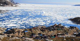 Pack ice in a congested bay in East Greenland