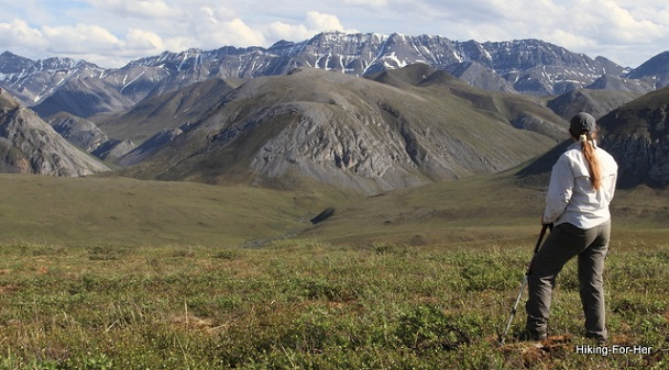 Big mountain vista in ANWR, Alaska, USA