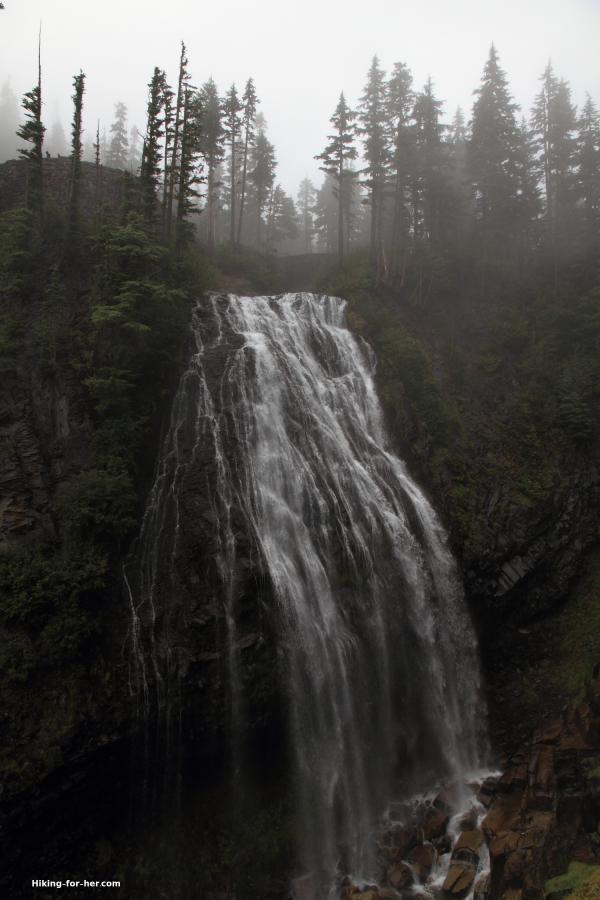 Rushing waterfall at Mt. Rainier, Narada Falls, Washington State