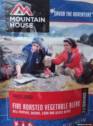 Mountain House freeze dried hiking food package of vegetables