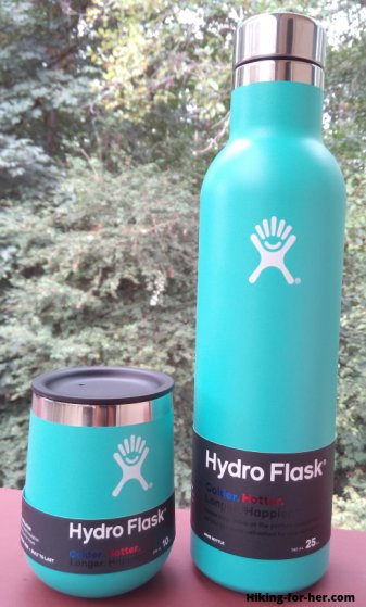 Hydroflask wine bottle and tumbler