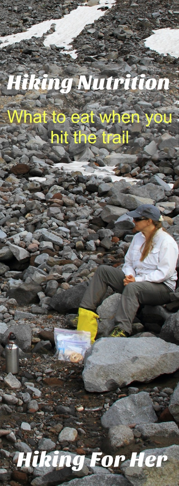 This female hiker wants a tasty but nutrient dense hiking lunch. Maybe she should read these hiking nutrition tips!