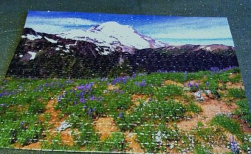 Jigsaw puzzle of a favorite view of Mount Rainier