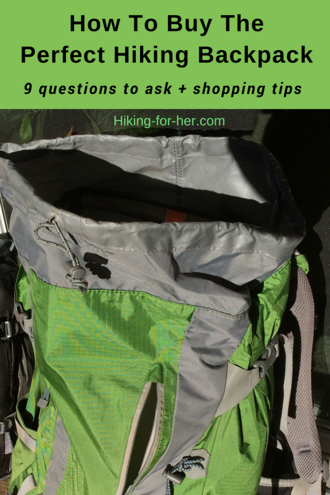 Ask yourself 9 questions and use these shopping tips, and the best backpack will soon be yours. #backpack #hikingbackpack #hiking #backpacking #bestbackpack #hikingforher