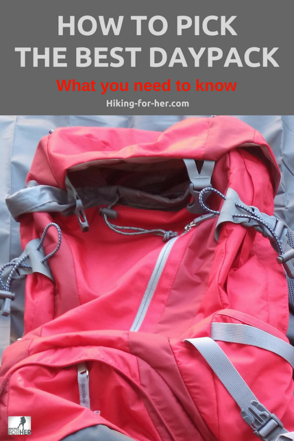 Looking for the best women's daypack for the trail? Use Hiking For Her's tips to find it! #hiking #backpack #hikinggear #daypacktips #dayhiking