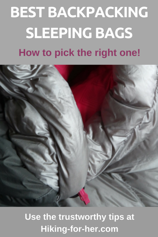 The best backpacking sleeping bags deliver warmth without weight, durability without hassle. Use this Hiking For Her guide to find the perfect bag. #backpacking #sleepingbags #hikinggear
