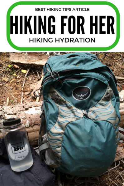 Stay well hydrated on your hikes with these hiking hydration tips, including which water bottles to carry in your backpack.