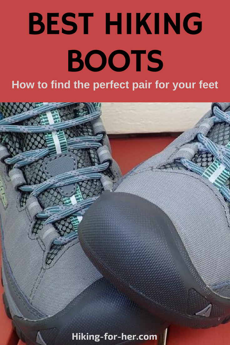 Find the best pair of hiking boots for your feet with these Hiking For Her boot buying tips. #hikingboots #hiking #backpacking #hikinggear #howtobuyboots #besthikingboots