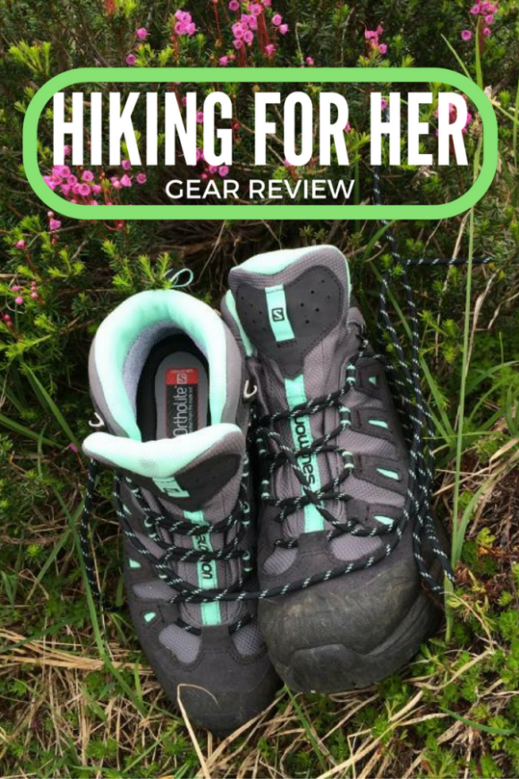 Looking for a great pair of Salomon womens hiking boots? Read my review before you buy. #hikingboots #hiking #backpacking #hikinggear