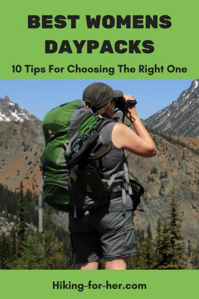 Use these 10 tips from Hiking For Her to choose the best day pack for your hiking plans. #dayhikes #backpacks #hikinggear #daypacks #womenhikers #buybackpack #outdoorwomen