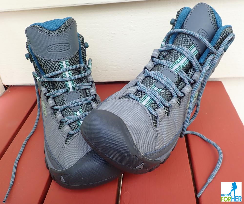 Pair of unlaced hiking boots
