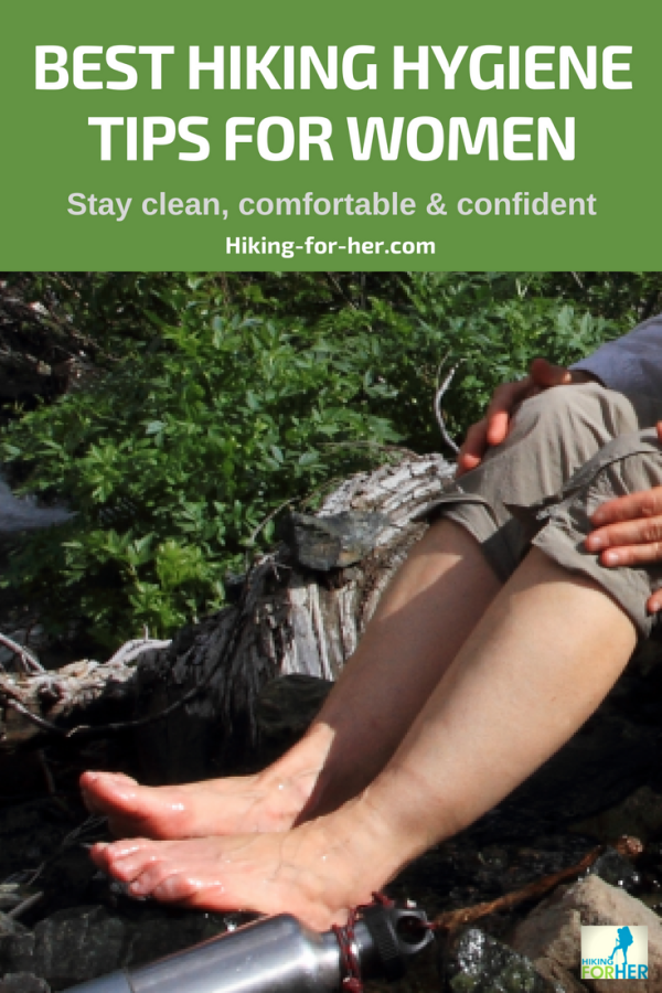 Female hiking hygiene concerns might be  keeping you off the trail. Use the Hiking For Her tips to stay clean, comfortable and confident during your hike. #hiking #backpacking #hygienetips