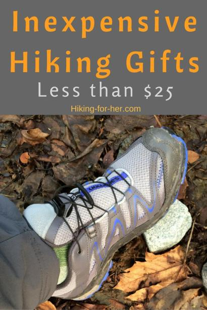 Finding the best gifts for hikers is tough, and even tougher if you're on a budget. Use these tips for inexpensive hiking gifts less than $25. #hikinggifts #outdoorgifts #giftsforhikers #giftsunder25