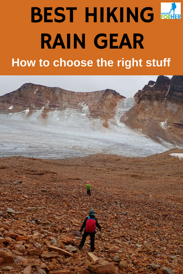 Hiking For Her gives you the tips you need to stay warm and dry outside in the best hiking rain gear. #raingear #hiking #backpackingtips #rainjacket #waterproofpants