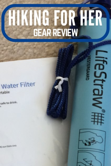 The Lifestraw personal water filter might be just the right piece of hiking gear for your next hike. Check out the details at Hiking For Her.