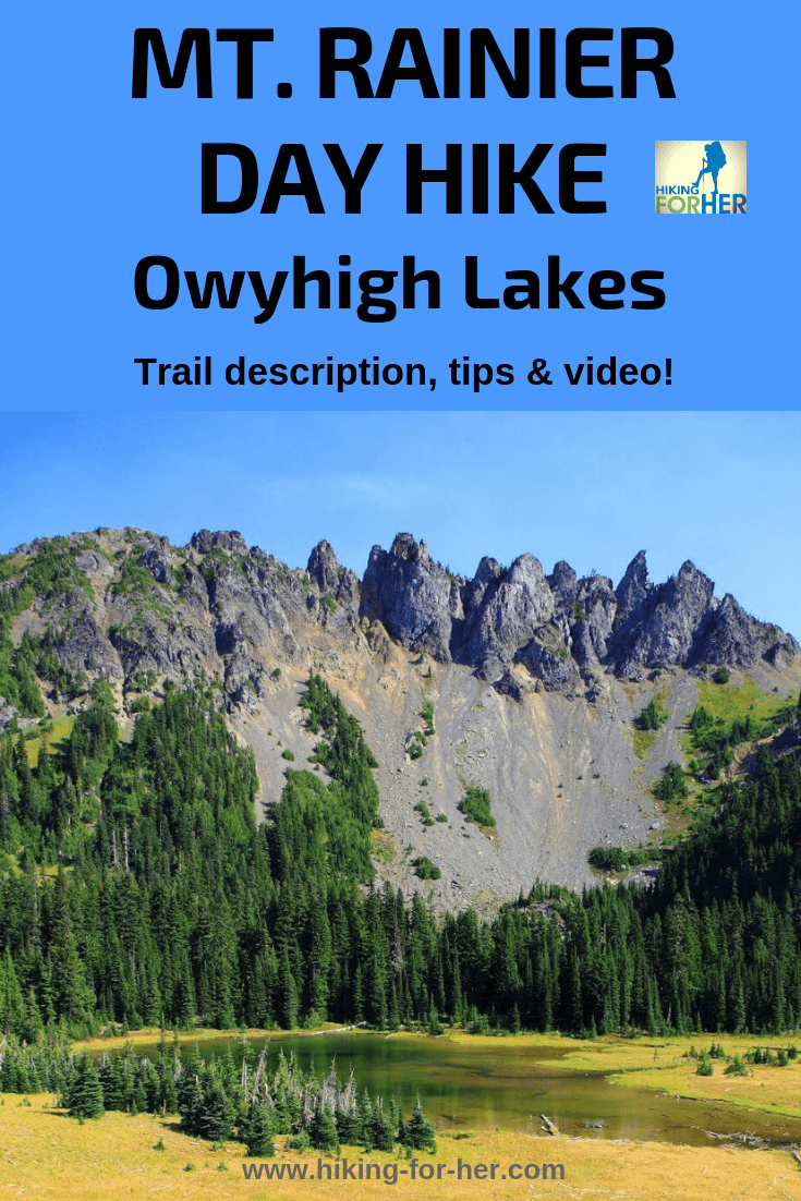 Rainier dayhiking doesn't always mean steep uphill trails. How about a forest hike to lovely Owyhigh Lakes? #rainierhikes #mountrainier #dayhikes #hikingforher #bestrainierhikes #owyhighlakes