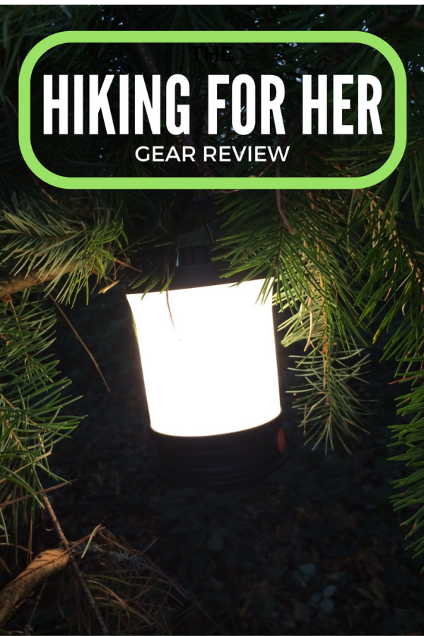 Fenix rechargeable camping lantern - small but mighty piece of outdoor gear! Brought to you via another Hiking For Her gear review. #gearreview #campinglantern #hiking #camping #hikingforherreview