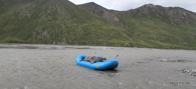 River rafting in ANWR on the Canning River