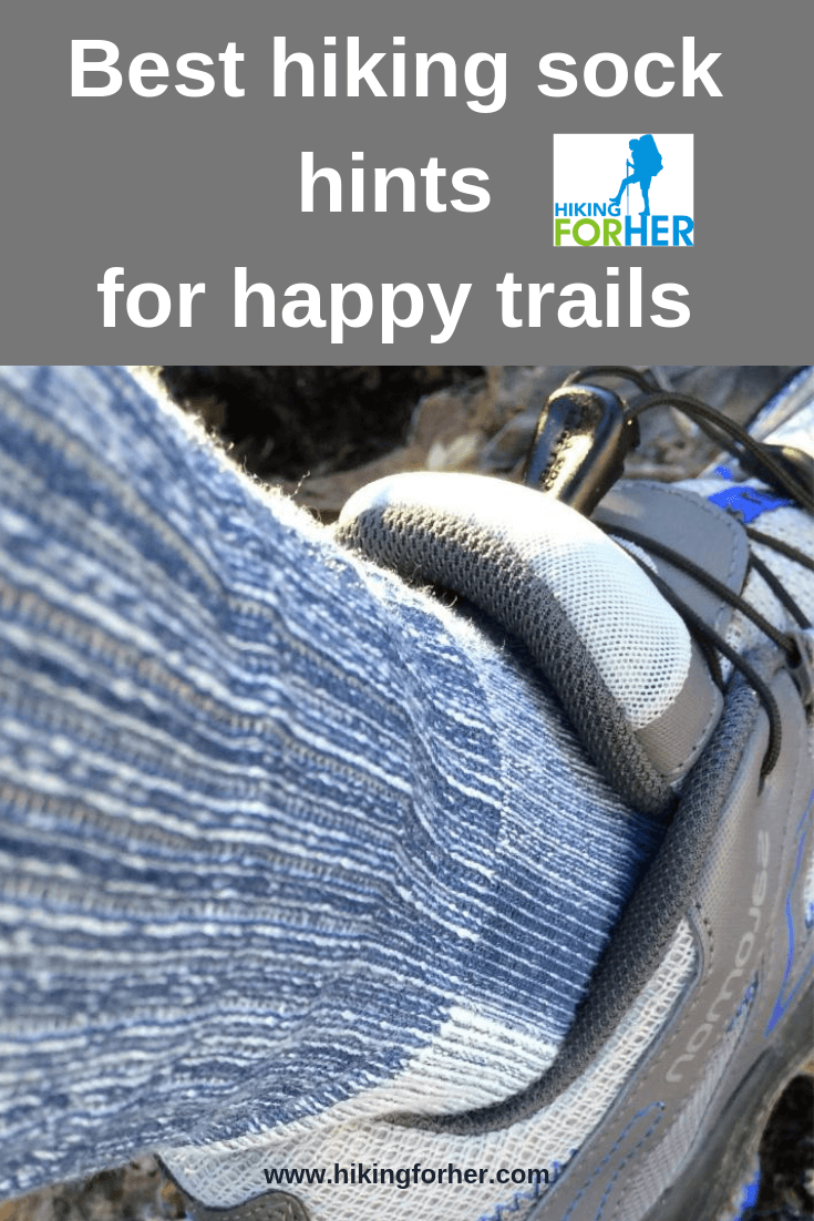Hiking socks are as important as your boots, backpack and trail food. Use these Hiking For Her tips to choose perfect hiking socks for your feet. #hikingsocks #hike #socks #backpackingsocks #bestsocks