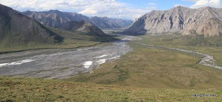 Viewpoint overlooking Canning River in ANWR