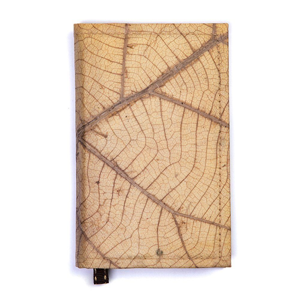 Outer cover of hiking journal in leaf vein pattern