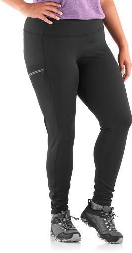 Women's black leggings for hiking