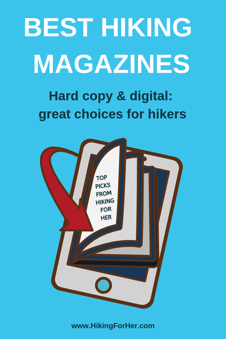 Hiking magazines make great gifts for yourself or a trail buddy. #hikingmagazines #outdoormagazines #hiking #backpacking #hikinggifts