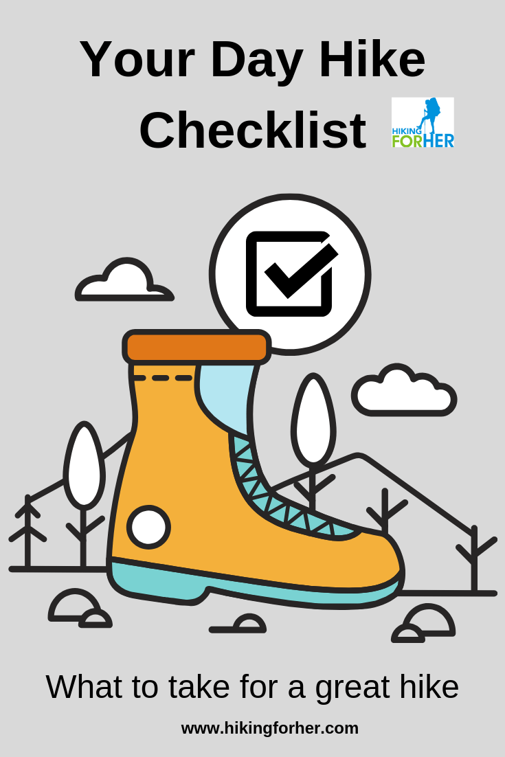 Dayhike checklists save you time and trouble. #hikingchecklist #dayhikes #dayhikechecklist #hiking #womenwhohike #hikingsafety