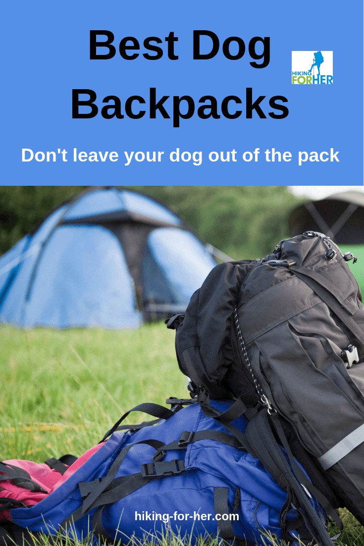 Your dog is part of your pack, so gear her up with the best dog backpack with these tips from Hiking For Her. #hikingdog #dogshike #dogbackpacks #backpacksfordogs #caninebackpacks