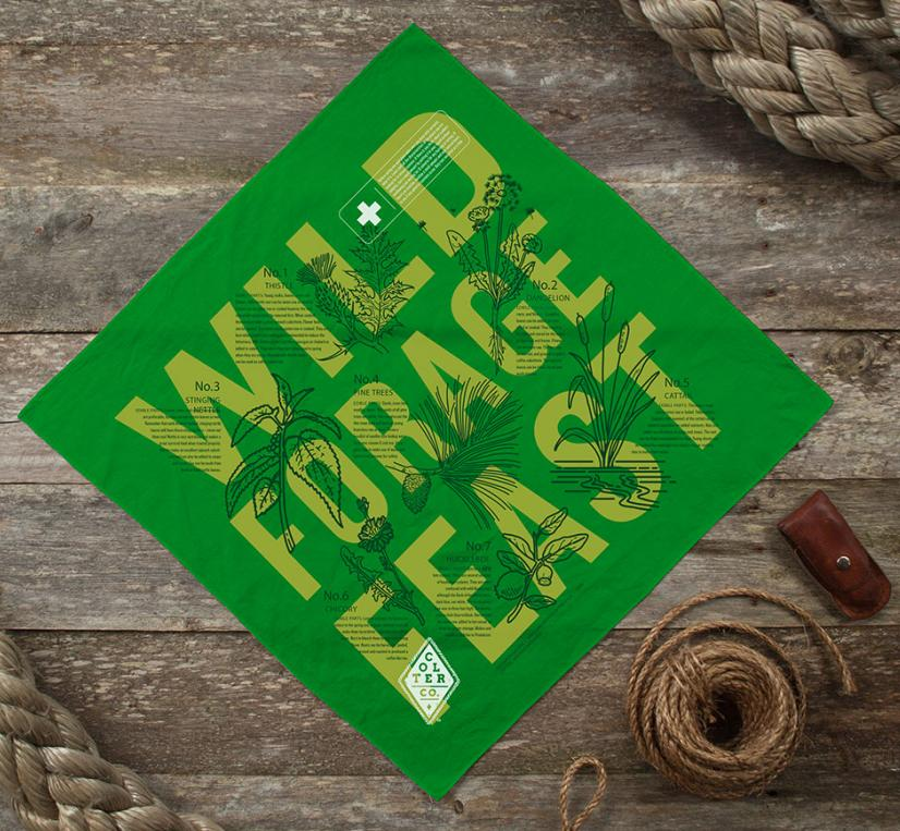 Wild forest feast bandana for hikers