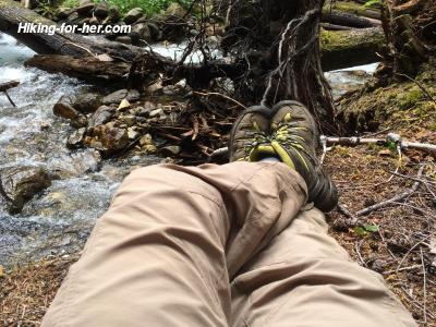 Hiker's feet in boots