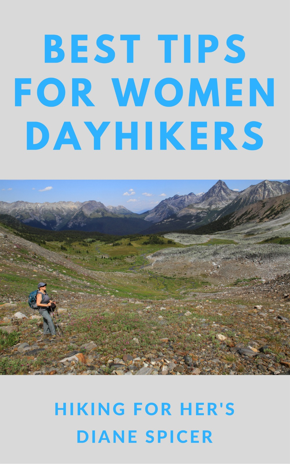 Get trustworthy hiking information from a seasoned female hiker in Dayhiking Tips For Women Hikers by Hiking For Her. #hiking #hikingbook #dayhikes #hikingtips #womenhikers