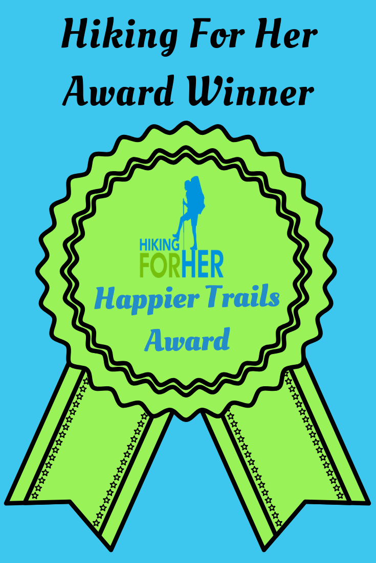 Happier Trails Award from Hiking For her