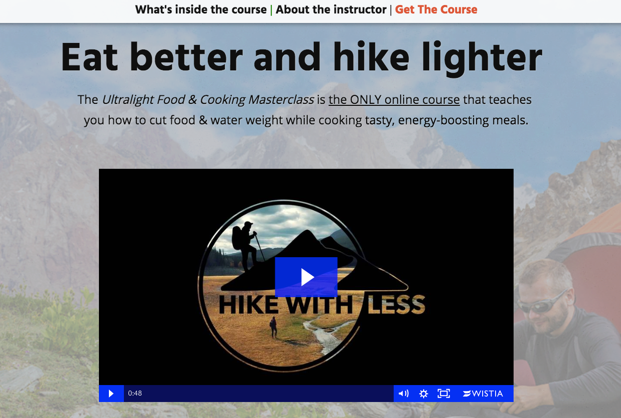 Hike With less ecourse