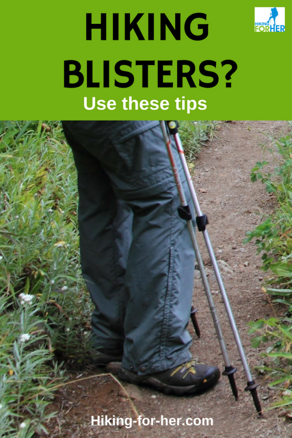 Use these hiking blister prevention and treatment tips from Hiking For Her to keep your feet out of trouble on your next hike. #blisters #hike #hiking #backpacking #treatblisters #outdoors #firstaid