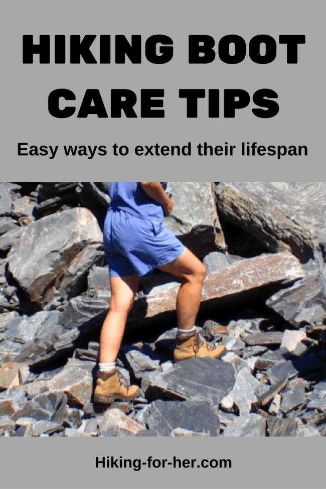 Hiking boots are expensive, so take good care of yours with these easy ways to extend their lifespan. From Hiking For Her, the best hiking advice around. #hikingboots #bootcare #besthikingboots