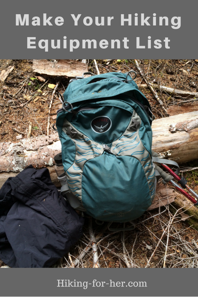 A hiking equipment list is the only way to guarantee that you'll have all of the camping and hiking gear you need. Time to make a list!