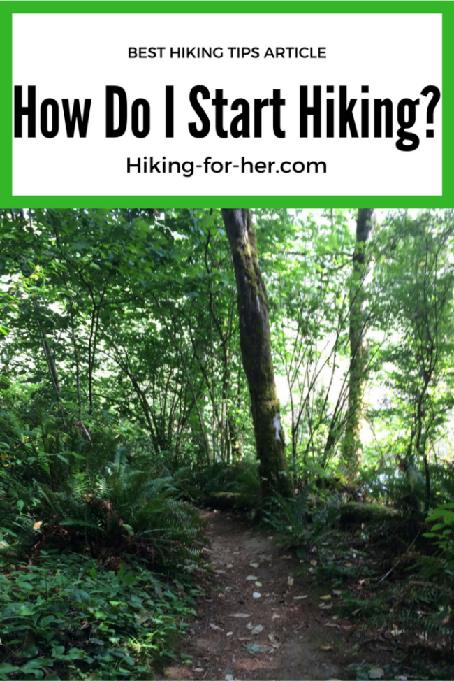 If you want to start hiking but aren't sure how to get on the trail, these Hiking For Her tips are for you! #starthiking #hike #hiking #howtohike #hikingtips #beginnerhikes #womenhikers #hikingwomen