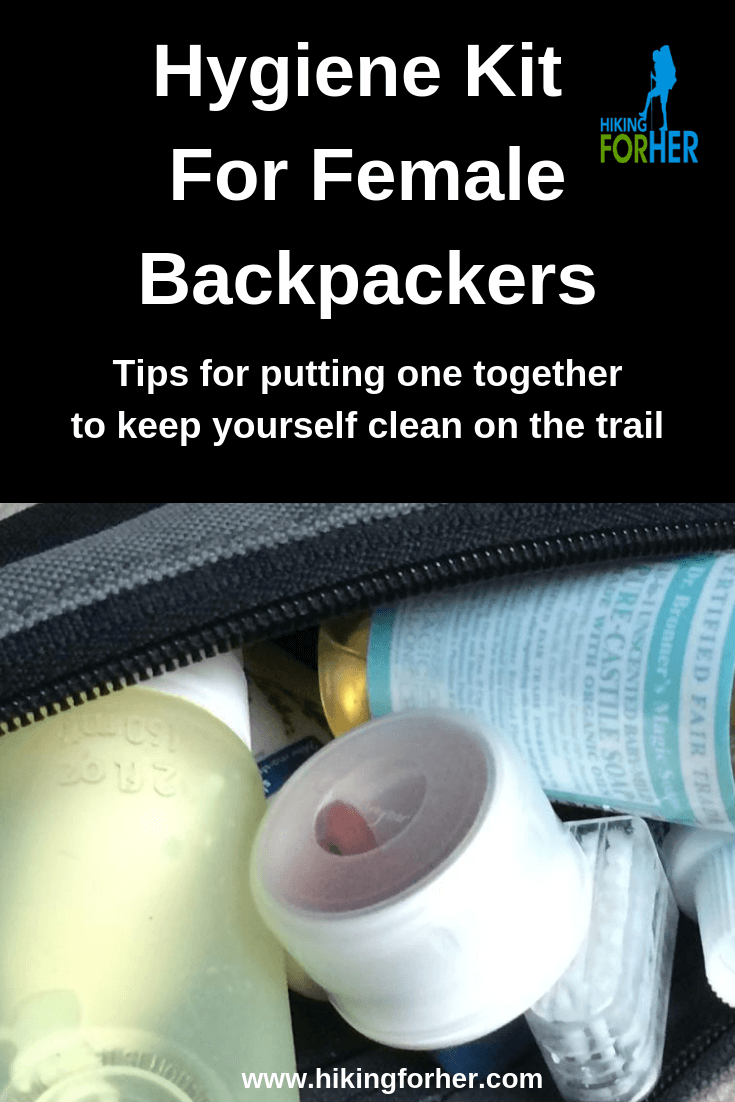 Put together a backpacking hygiene kit and never have to endure greasy hair and dirty fingernails on the trail. #backpacking #backpackinghygiene #femalebackpackers #hygienekit #staycleanhiking