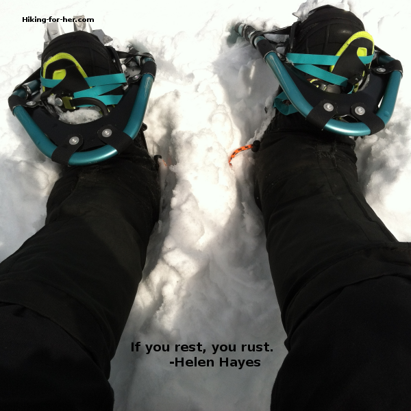 You want great snowshoeing gear on your feet before you tackle a wintery trail. Need some tips on how to buy women's snowshoes? Here they are! #snowshoes