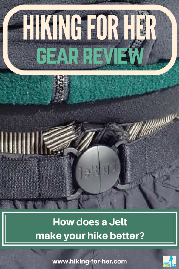 Hiking pants falling down? Tired of tugging up your rain pants? Read Hiking For Her's Jelt Belt review and solve your problems with 100% recycled plastic bottles. #hiking #backpacking #hikingtips