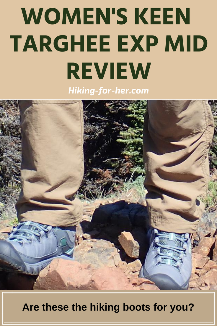 Women's hiking boots can be hard to find, but not with Hiking For Her's review of a trailworthy pair from Keen. #hikingboots #hikinggearreview #backpacking #hiking #bestboots