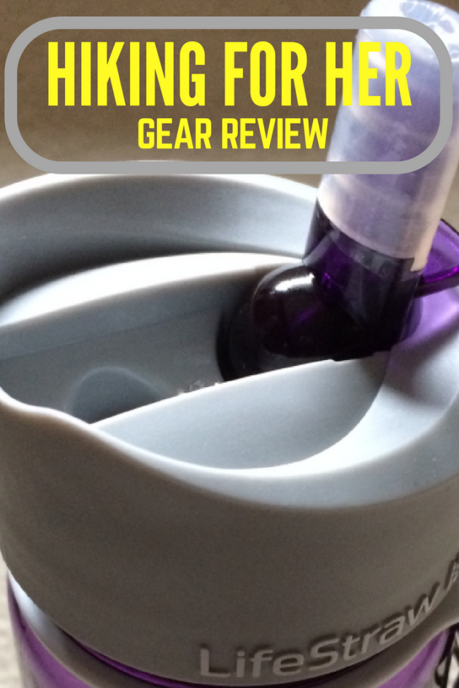 This Hiking For Her Lifestraw Go water bottle review gives you all the details you need to decide if this two stage water filtration system will work on your next hike or backpacking trip.