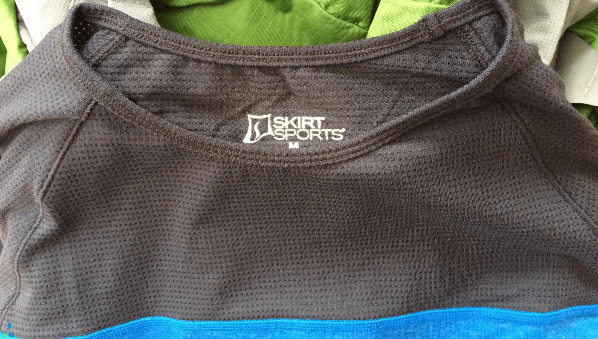 Skirt Sports upper mesh on shirt