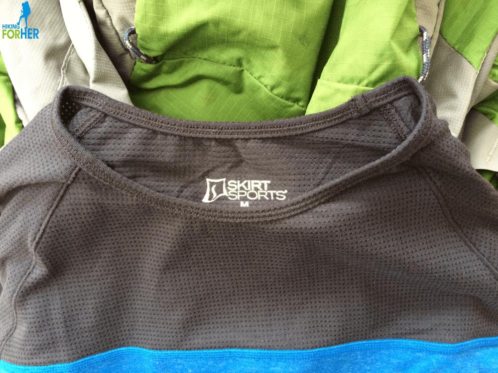 Skirt Sports Wonder Wool shirt upper mesh details