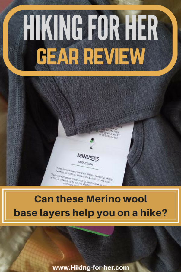 Your #hikingclothing layers should include a Merino wool base layer when you hit the trail in cool weather. Read Hiking For Her's Minus 33 review to see if these are right for your next #hike.