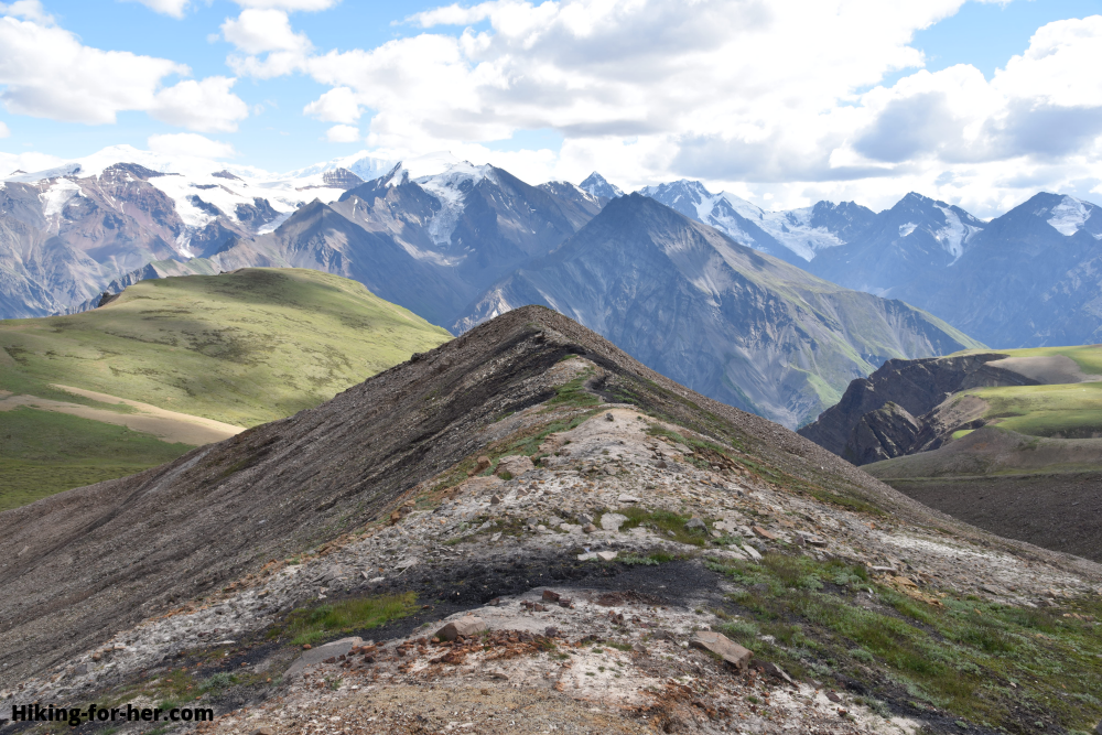 Exposed high alpine terrain at Wolverine, Wrangell St Elias, Alaska